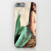 Sea Siren, Nude mermaid art iPhone 6 Slim Case