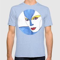 Shaima (previous age) Mens Fitted Tee Tri-Blue SMALL