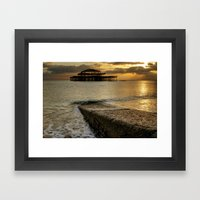 West Pier Brighton Framed Art Print