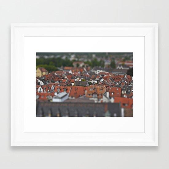 Plastic world Framed Art Print