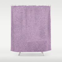 Abstract #002 Cells (Lavender)  Shower Curtain