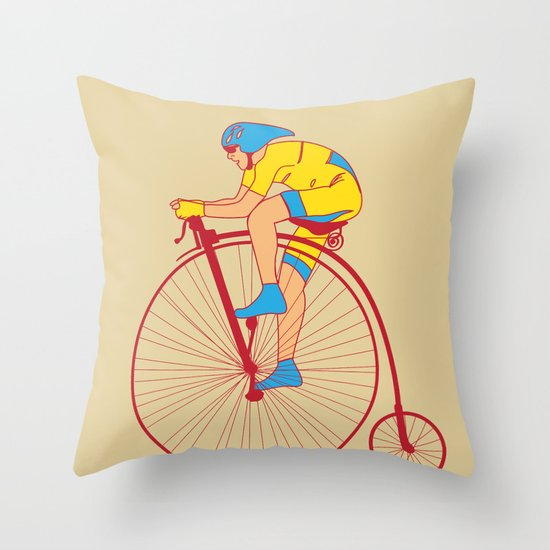 Pennyfarthing  Throw Pillow
