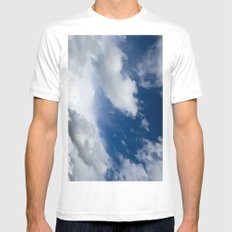 Summer sky SMALL Mens Fitted Tee White