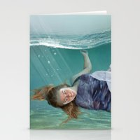 mermaid Stationery Cards featuring Mermaid  by Mary Kilbreath
