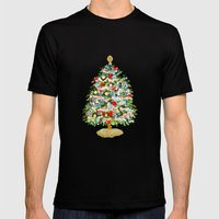 A Christmas Tree Mens Fitted Tee Black SMALL