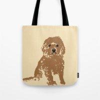 Cockapoo dog art Tote Bag