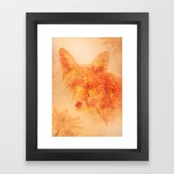 Framed Art Print featuring IDLE FOX by Vincent Balbastre