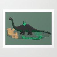Dinosaur cosplay Art Print