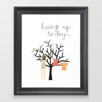Hung up to dry... Framed Art Print