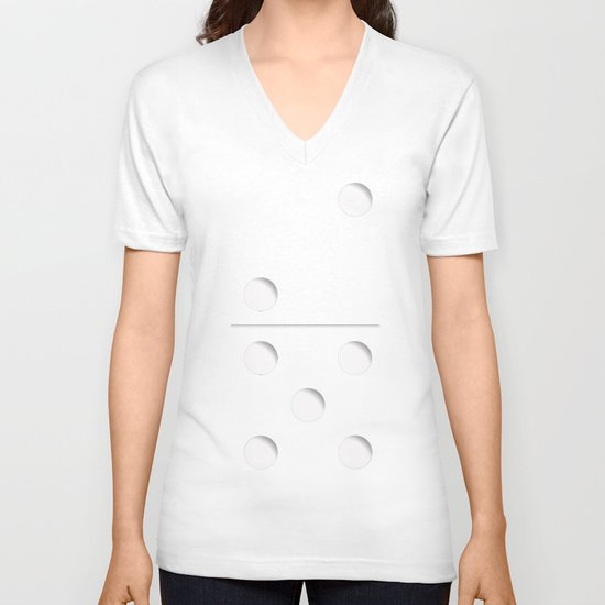 Domino V-neck T-shirt