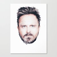 Aaron Paul Digital Portr… Canvas Print