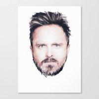 Aaron Paul Digital Portr… Canvas Print