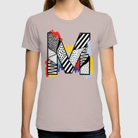 M for ... Womens Fitted Tee Cinder SMALL