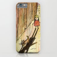 iPhone & iPod Case featuring walking the cat by Marianna Tankelevich