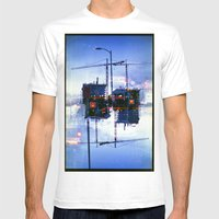 America Ducking The Ques… Mens Fitted Tee White SMALL