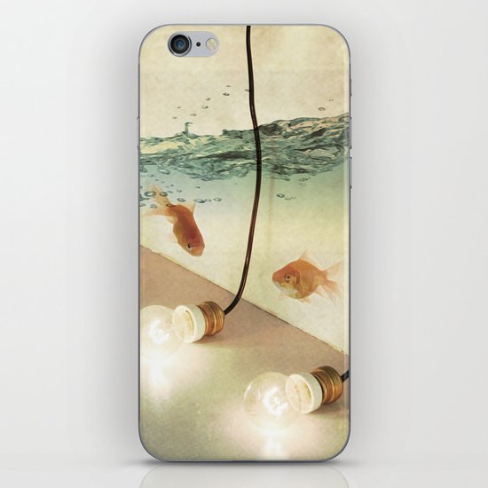 ideas and goldfish iPhone & iPod Skin