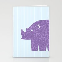 Fun at the Zoo: Rhino Stationery Cards