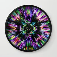 Colorful Tie Dye Abstrac… Wall Clock