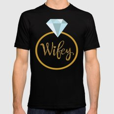 Wifey Mens Fitted Tee Black SMALL