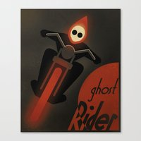CASSANDRE SPIRIT - Ghost Rider2 Canvas Print