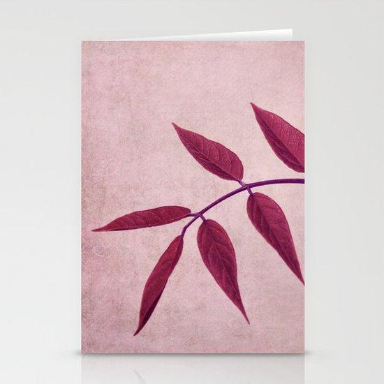 carmine Stationery Card