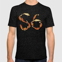 glow Mens Fitted Tee Tri-Black SMALL