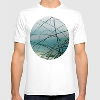 Beach Grass and Sea Mens Fitted Tee White SMALL
