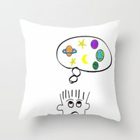 Space Dreaming Throw Pillow