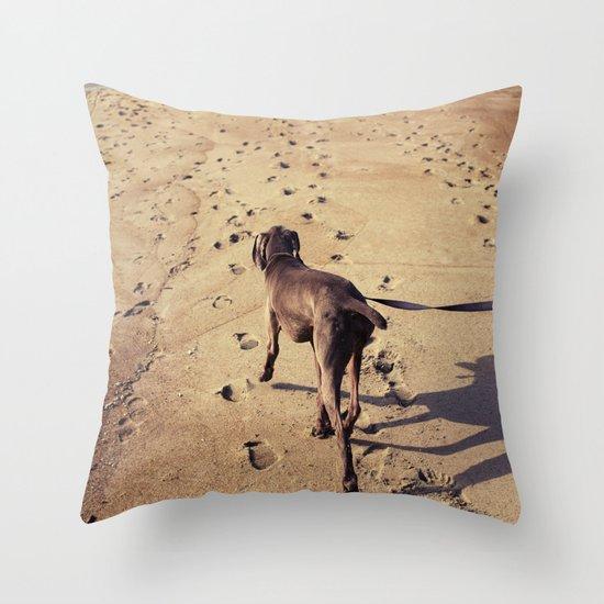 beachdog Throw Pillow