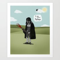 I Am Your Farmer Art Print
