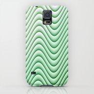 Soft Green Waves Galaxy S5 Slim Case