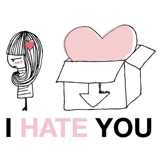 I Hate You / Box Art Print