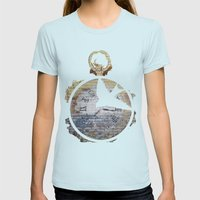 Bird Watching Womens Fitted Tee Light Blue SMALL