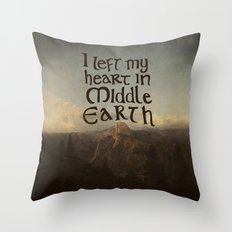 I Left My Heart in Middle Earth Throw Pillow