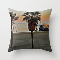 Barcelona Beach Throw Pillow