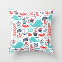 Ahoy Matey Throw Pillow