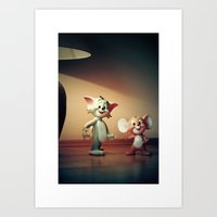 Tom And Jerry Art Print