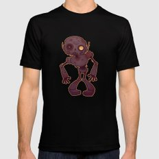 Rusty Zombie Robot Mens Fitted Tee SMALL Black