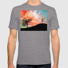 Basket On A Hill Mens Fitted Tee Tri-Grey SMALL