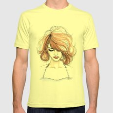 Nora Mens Fitted Tee Lemon SMALL