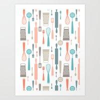 Kitchen Utensils Art Print