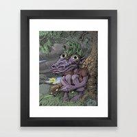 Little Old Dragon Man Framed Art Print