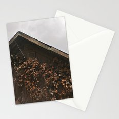 Camouflage - Red Leaves on Barn Stationery Cards