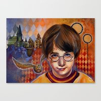 Harry's First Quidditch Match Canvas Print