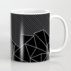 Ab Lines 45 Grey and Black Mug