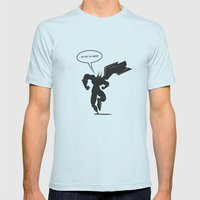Action hero Mens Fitted Tee Light Blue SMALL