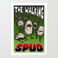 The Walking Spud Art Print