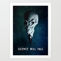 Doctor Who: The Silence Art Print