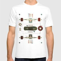 The Anatomy of a Skateboard Mens Fitted Tee White SMALL
