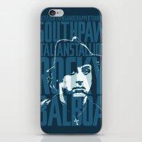Rocky Balboa Minimal Vec… iPhone & iPod Skin